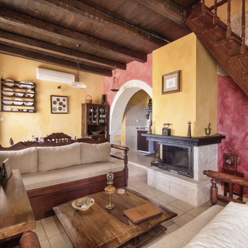 Traditional House Interior, Chania Crete, For Sale