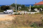 PLMAL00039, Corner plot with sea view for sale in Maleme Chania
