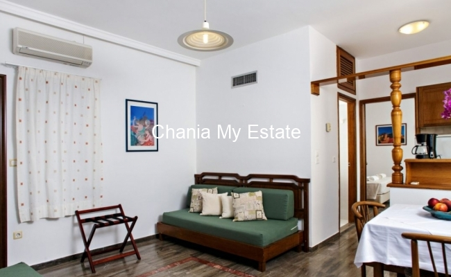 Living room - Hotel for sale in Nea Kydonia, Chania Crete Greece