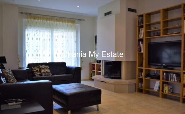 Living Room - Gorgeous apartment for sale in Kounoupidiana, Chania Crete Greece