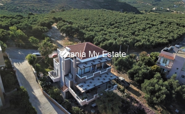 Luxurious house aerial view